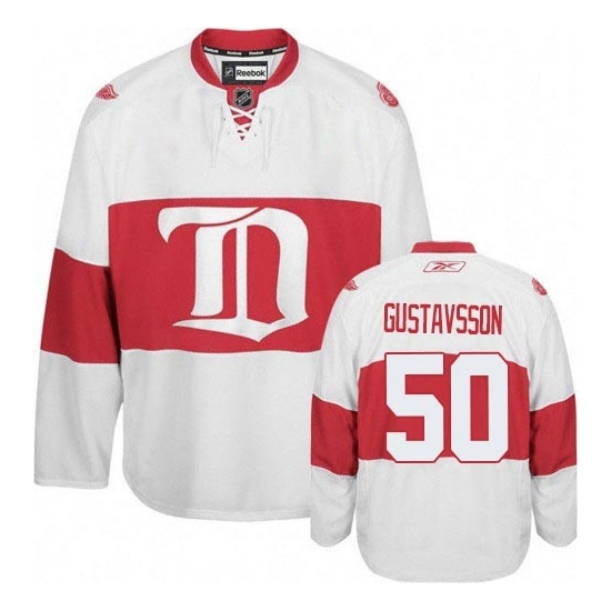 Jonas Gustavsson Detroit Red Wings Authentic Third Reebok Jersey - White