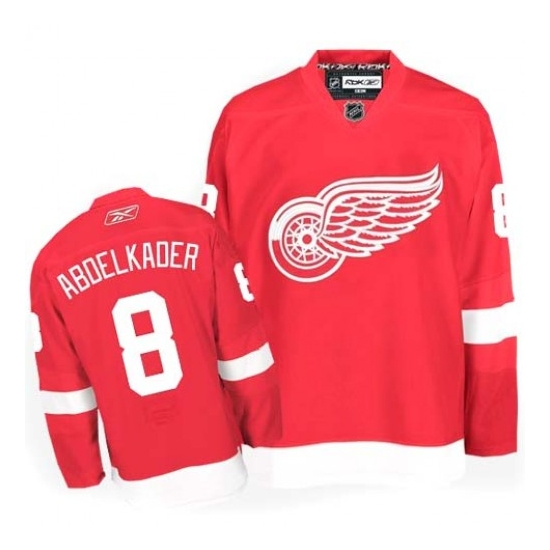 Justin Abdelkader Detroit Red Wings Authentic Home Reebok Jersey - Red