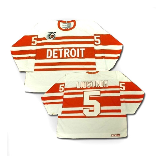 Nicklas Lidstrom Detroit Red Wings Authentic Throwback CCM Jersey - White