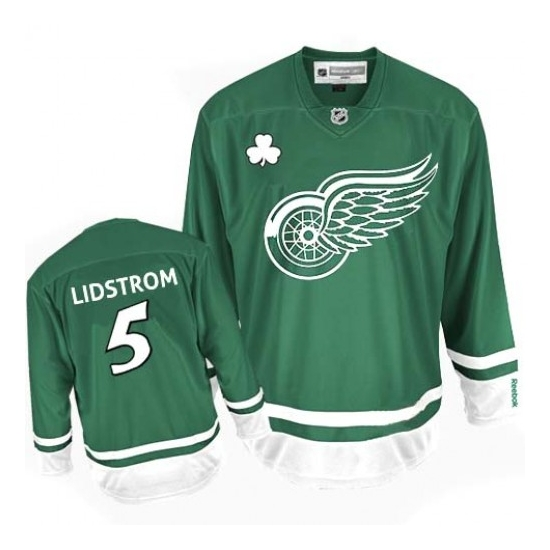 Nicklas Lidstrom Detroit Red Wings Authentic St Patty's Day Reebok Jersey - Green