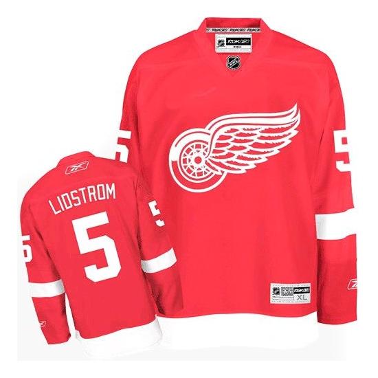 Nicklas Lidstrom Detroit Red Wings Premier Home Reebok Jersey - Red