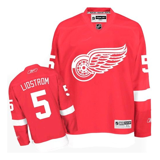 Nicklas Lidstrom Detroit Red Wings Youth Premier Home Reebok Jersey - Red