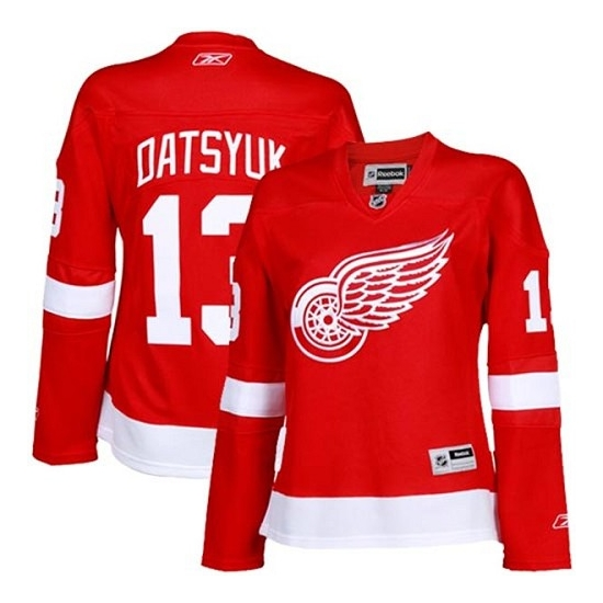 Pavel Datsyuk Detroit Red Wings Women's Premier Home Reebok Jersey - Red