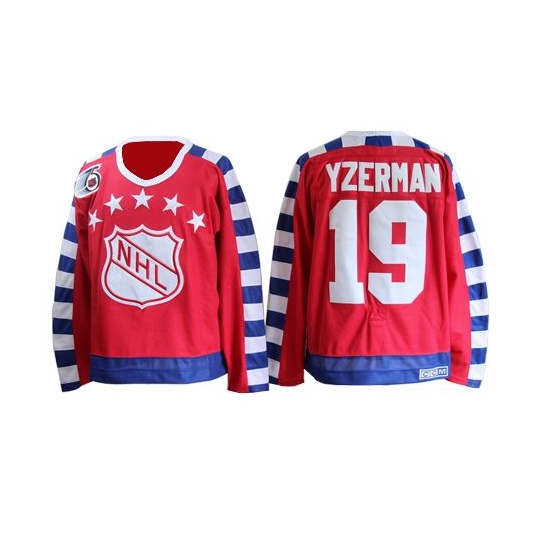 Steve Yzerman Detroit Red Wings Authentic 75TH All Star Throwback CCM Jersey - Red