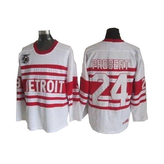 Bob Probert Detroit Red Wings Authentic Throwback CCM Jersey - White