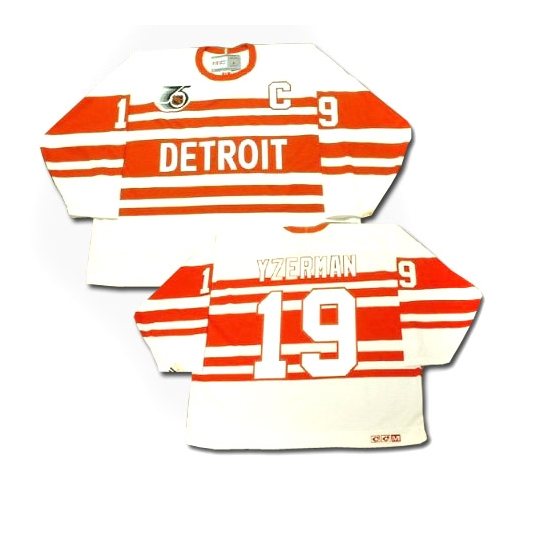 Steve Yzerman Detroit Red Wings Authentic Throwback CCM Jersey - White