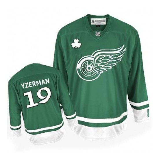 Steve Yzerman Detroit Red Wings Premier St Patty's Day Reebok Jersey - Green