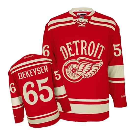 Danny DeKeyser Detroit Red Wings Premier 2014 Winter Classic Reebok Jersey - Red