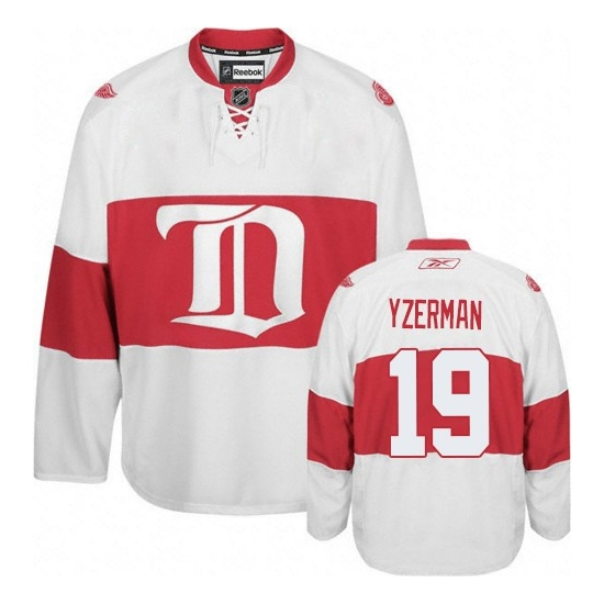 Steve Yzerman Detroit Red Wings Youth Authentic Third Reebok Jersey - White