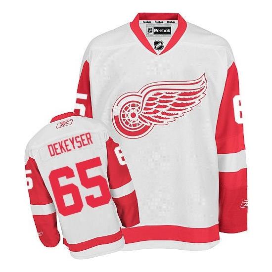 Danny DeKeyser Detroit Red Wings Authentic Away Reebok Jersey - White