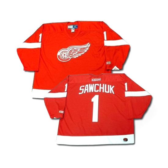 Terry Sawchuk Detroit Red Wings Authentic Throwback CCM Jersey - Red
