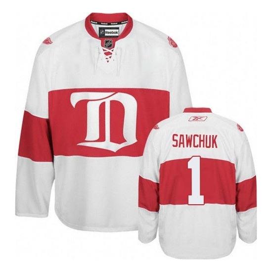 Terry Sawchuk Detroit Red Wings Premier Third Reebok Jersey - White
