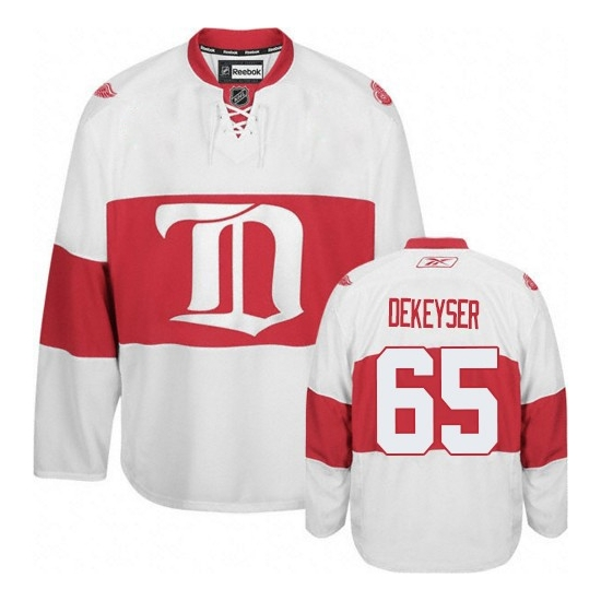 Danny DeKeyser Detroit Red Wings Authentic Third Reebok Jersey - White