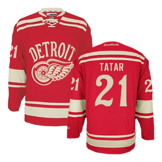 Tomas Tatar Detroit Red Wings Authentic 2014 Winter Classic Reebok Jersey - Red