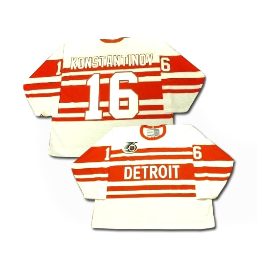 Vladimir Konstantinov Detroit Red Wings Authentic Throwback CCM Jersey - White