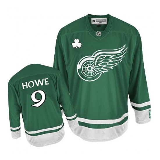Gordie Howe Detroit Red Wings Premier St Patty's Day Reebok Jersey - Green