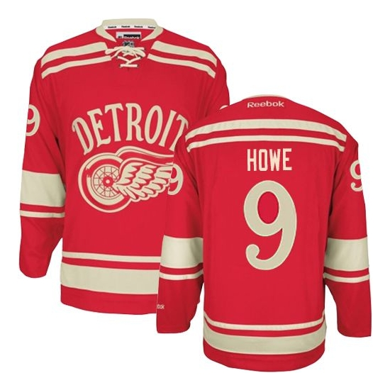 Gordie Howe Detroit Red Wings Premier 2014 Winter Classic Reebok Jersey - Red