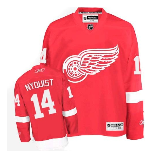 Gustav Nyquist Detroit Red Wings Authentic Home Reebok Jersey - Red
