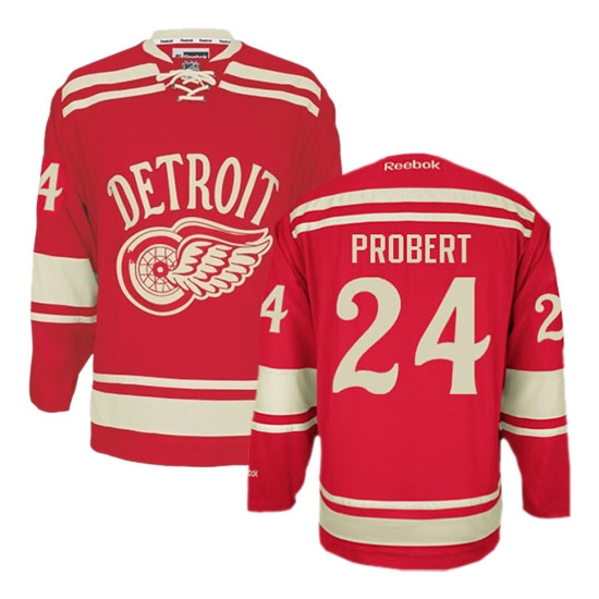 Bob Probert Detroit Red Wings Premier 2014 Winter Classic Reebok Jersey - Red