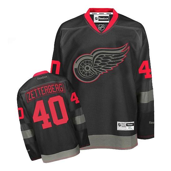 Henrik Zetterberg Detroit Red Wings Authentic Reebok Jersey - Black Ice