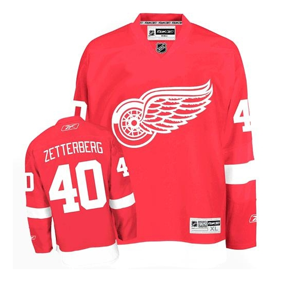 Henrik Zetterberg Detroit Red Wings Authentic Home Reebok Jersey - Red