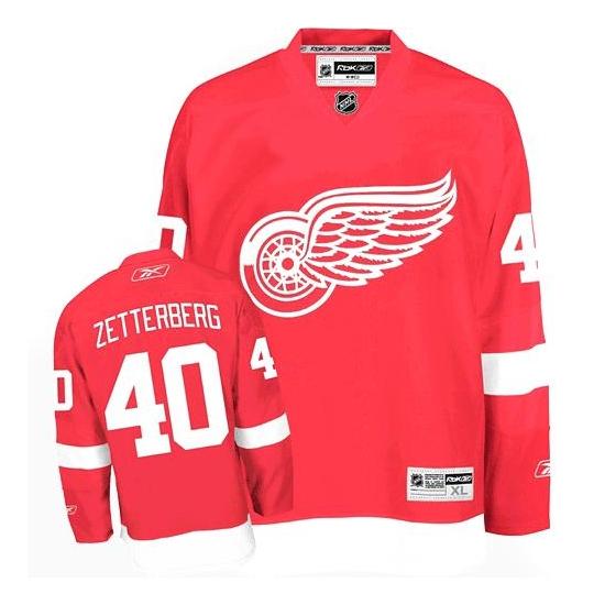 Henrik Zetterberg Detroit Red Wings Authentic Home Reebok Jersey - Red