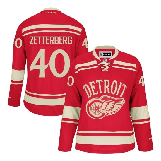 Henrik Zetterberg Detroit Red Wings Women's Authentic 2014 Winter Classic Reebok Jersey - Red