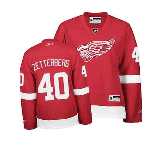 Henrik Zetterberg Detroit Red Wings Women's Authentic Home Reebok Jersey - Red