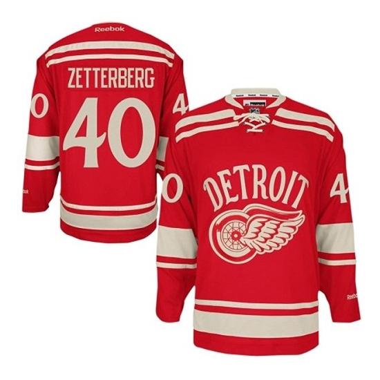 Henrik Zetterberg Detroit Red Wings Youth Premier 2014 Winter Classic Reebok Jersey - Red