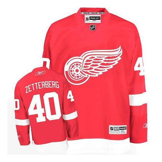 Henrik Zetterberg Detroit Red Wings Youth Premier Home Reebok Jersey - Red
