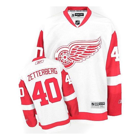 Henrik Zetterberg Detroit Red Wings Youth Premier Away Reebok Jersey - White