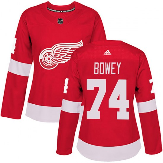 Madison Bowey Detroit Red Wings Women's Authentic Home Adidas Jersey - Red