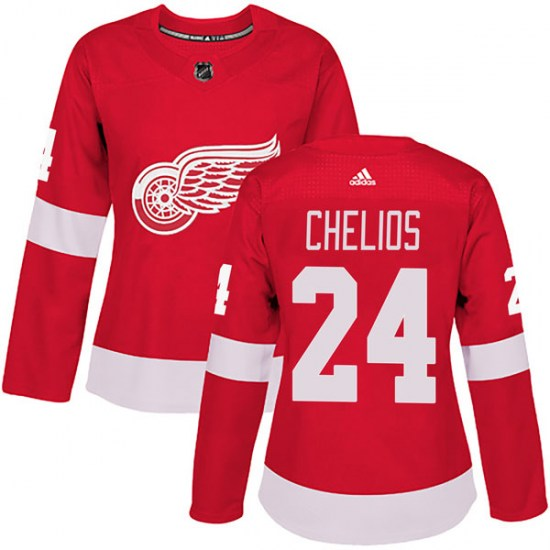 Chris Chelios Detroit Red Wings Women's Authentic Home Adidas Jersey - Red
