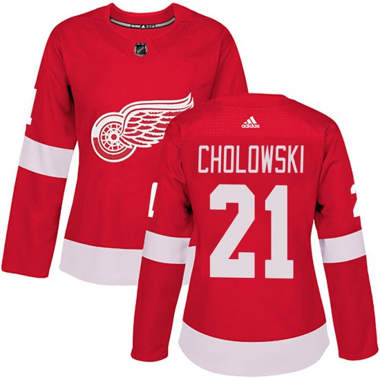 Dennis Cholowski Detroit Red Wings Women's Authentic Home Adidas Jersey - Red