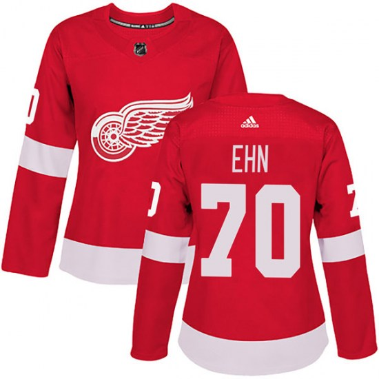 Christoffer Ehn Detroit Red Wings Women's Authentic Home Adidas Jersey - Red