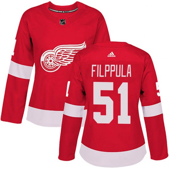 Valtteri Filppula Detroit Red Wings Women's Authentic Home Adidas Jersey - Red