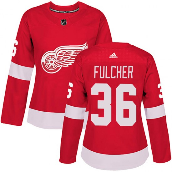 Kaden Fulcher Detroit Red Wings Women's Authentic Home Adidas Jersey - Red