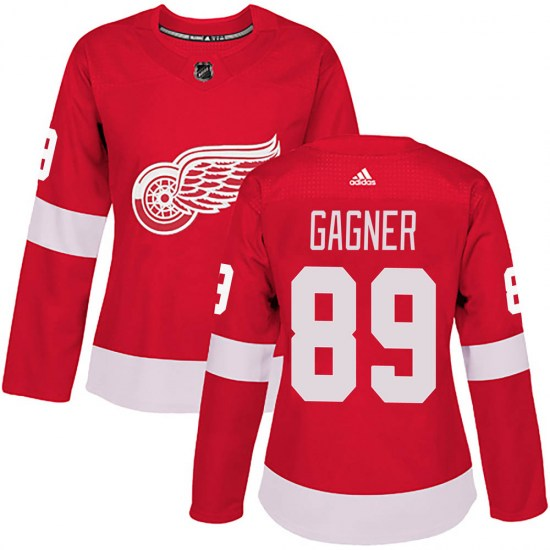 Sam Gagner Detroit Red Wings Women's Authentic ized Home Adidas Jersey - Red