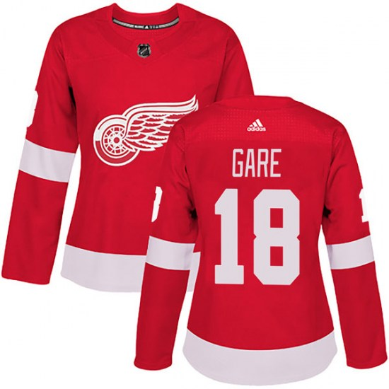 Danny Gare Detroit Red Wings Women's Authentic Home Adidas Jersey - Red