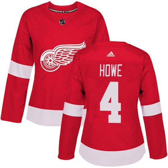 Mark Howe Detroit Red Wings Women's Authentic Home Adidas Jersey - Red