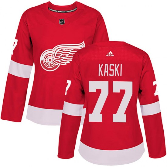 Oliwer Kaski Detroit Red Wings Women's Authentic Home Adidas Jersey - Red