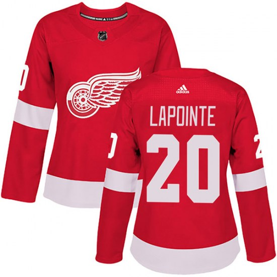 Martin Lapointe Detroit Red Wings Women's Authentic Home Adidas Jersey - Red