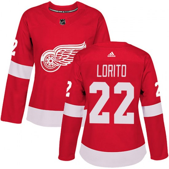 Matthew Lorito Detroit Red Wings Women's Authentic Home Adidas Jersey - Red