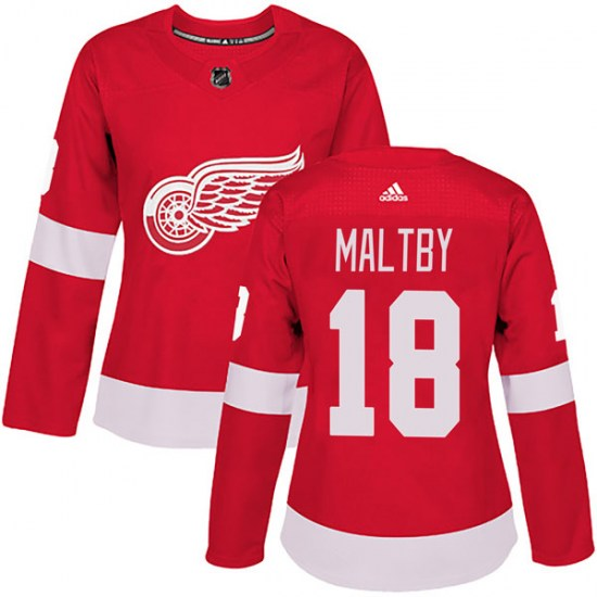 Kirk Maltby Detroit Red Wings Women's Authentic Home Adidas Jersey - Red