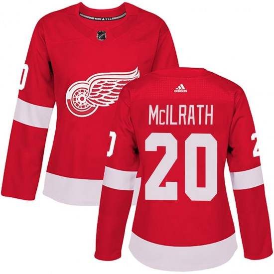 Dylan McIlrath Detroit Red Wings Women's Authentic Home Adidas Jersey - Red
