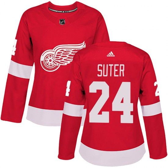 Pius Suter Detroit Red Wings Women's Authentic Home Adidas Jersey - Red