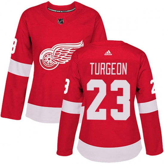 Dominic Turgeon Detroit Red Wings Women's Authentic Home Adidas Jersey - Red