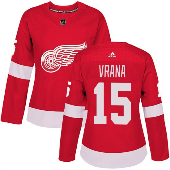 Jakub Vrana Detroit Red Wings Women's Authentic Home Adidas Jersey - Red