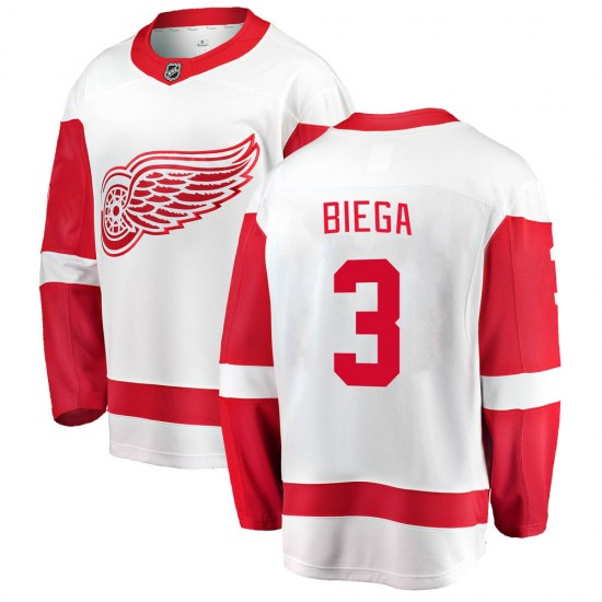 Alex Biega Detroit Red Wings Breakaway Away Fanatics Branded Jersey - White