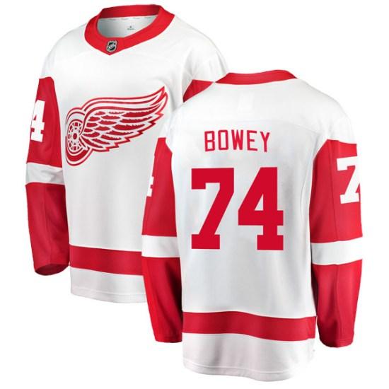Madison Bowey Detroit Red Wings Breakaway Away Fanatics Branded Jersey - White